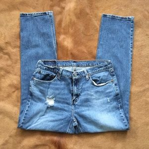 levi's distressed blue jeans 541
